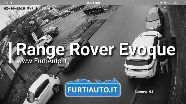 Furto Range Rover Evoque – Telecamere di Sicurezza