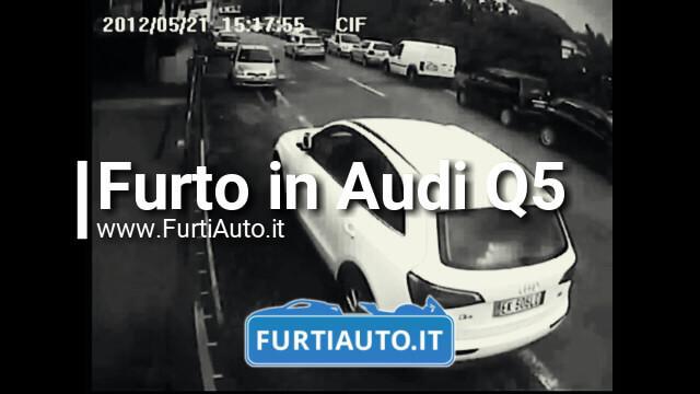 Furto Audi Q5 in pieno giorno